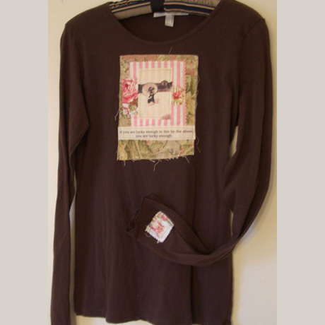 Brown Long Sleeve Tee