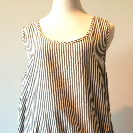 Top of French Stripe Puckered Dress
